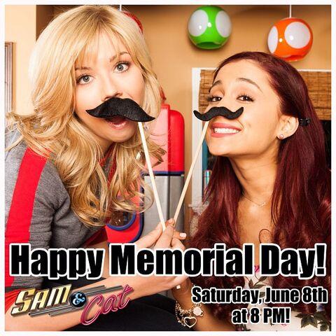 File:Sam and Cat Memorial Day. May 31, 2013.jpg