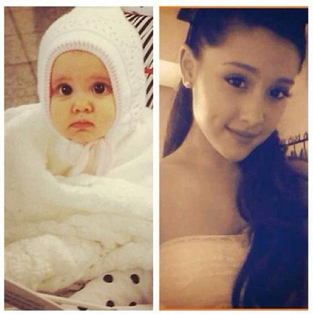 File:Ariana before and after, from baby to teen(adult).jpg
