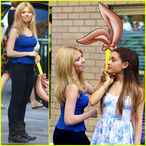 File:Ariana and Jennette Mccurdy Commercial Shoot in-NYC.jpg