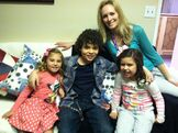 Laura Erikson with Cameron, Sophia Grace, and Rosie