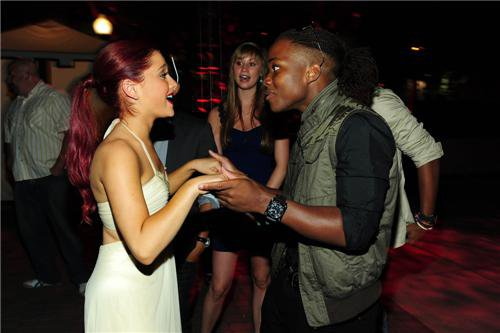 File:Ariana and Leon at Ari's bday party 2011.jpg