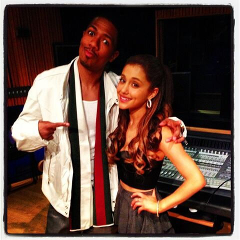 File:Nick Cannon and Ariana in the studio.jpg