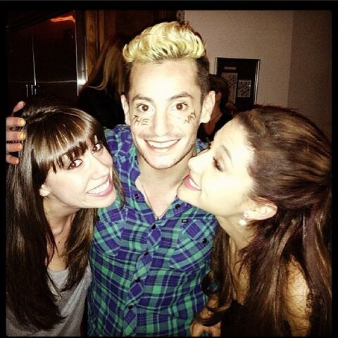 File:Colleen, Frankie, and Ariana after The Way's release.jpg