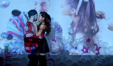 "Scene from Ariana's music video ""The Way"""