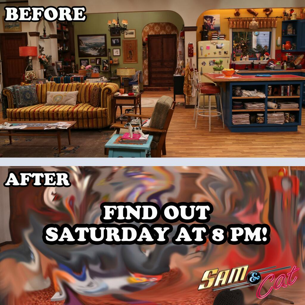 image sam and cats apartment before and after promo pic