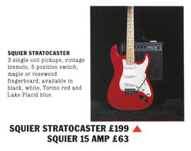Original Squier Strat (Korea) Advert