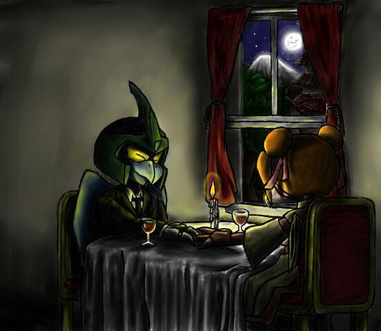 File:Bad Bird and Carla having dinner.jpg
