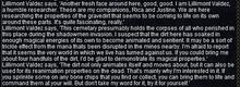 Quest text