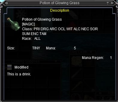 Potion of Glowing Grass