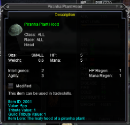 Piranah Plant Hood
