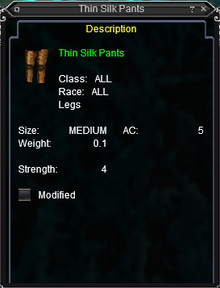 Thin Silk Pants