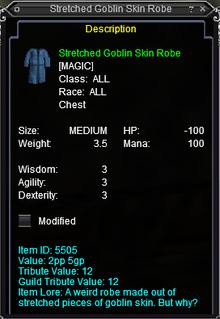 Stretched Goblin Skin Robe