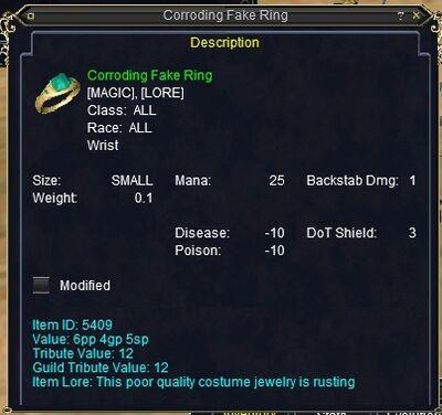 Corroding Fake Ring