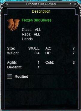 Frozen Silk Gloves