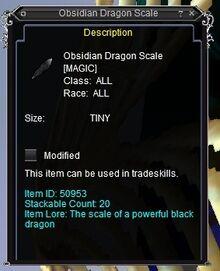 Obsidian Dragon Scale