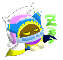 Magolor sleeping by elliestellershia-d4grdw2