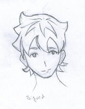 Character concept sigurd by the redundant button