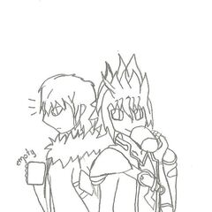 Galant and ishi, drawn by Fate for Christmas