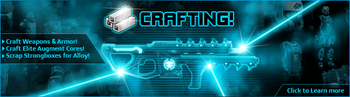 Crafting banner