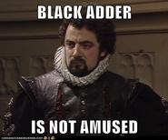 Blackadder is not amused
