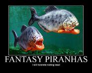 Motiv - fantasy piranhas