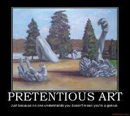 Motiv - pretentious art