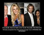 Motiv - older man younger woman