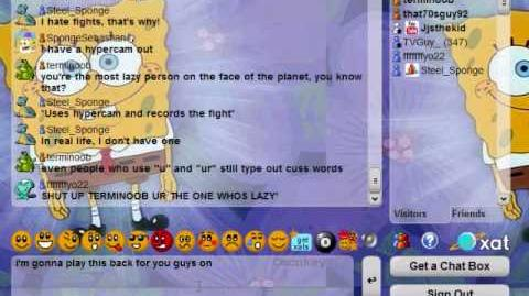 SpongeBobCommittee xat.com chat fight