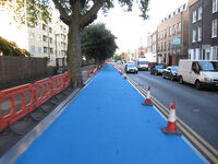 Cable Street cycle superhighway