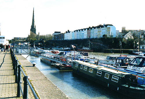 File:St Mary Redcliffe and Redcliffe Parade from dockside.jpg