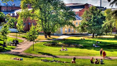 Sunbathing in Sinebrychoff Park