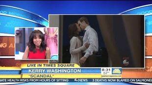 Kerry Washington - Scandal Season Premiere - GMA
