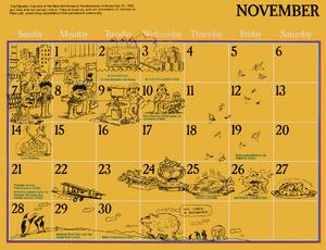 1976 sesame calendar 11 november 2