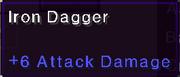 Iron dagger stats