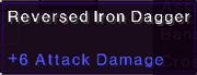 Reversed iron dagger stats