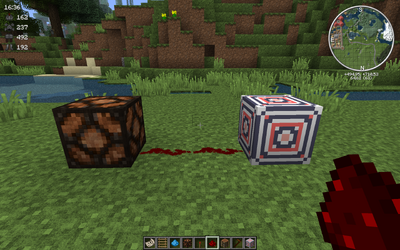 Redstone block off