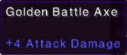Golden battle axe stats
