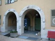 Gymnasium Alpenstrasse Eingangstor