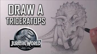 How to draw a Triceratops from Jurassic World-0