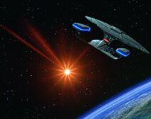 Enterprise fires torpedo