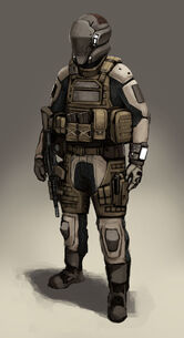 Futuristic soldier concept by fonteart-d619yk8
