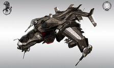 640x384 9820 Helldiver hellhound final 2d sci fi mech fighter picture image digital art