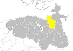 Nanzhao provinces map Hebei