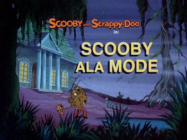 Scooby ala Mode title card