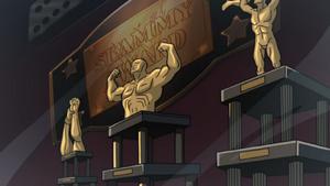 Slammy Award trophies