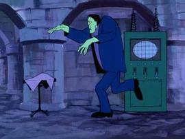 Frankenstein's Monster running in Franken Castle