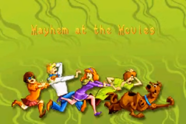 File:Mayhem at the Movies title card (GBA).png