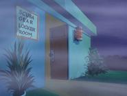 Scuba gear locker room