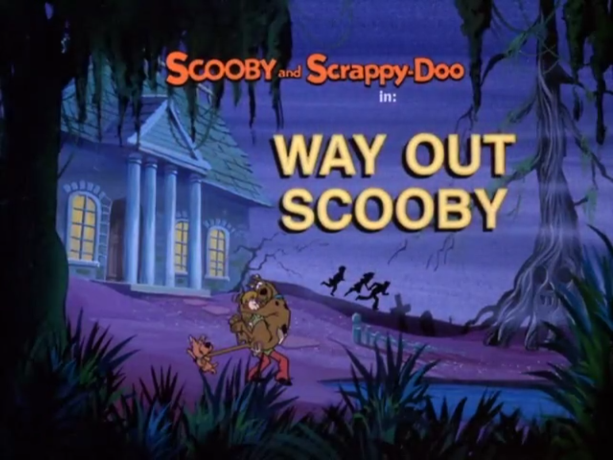 Way Out Scooby title card