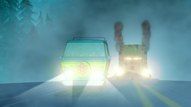 Ghost Truck 1st approaches Mystery Machine